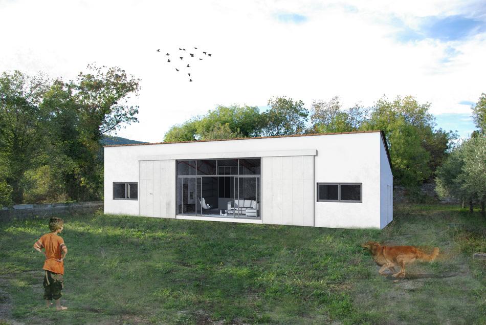 transformation d un hangar en habitation id e d 39 image de meubles. Black Bedroom Furniture Sets. Home Design Ideas
