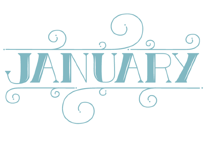 The Months Hand Lettering