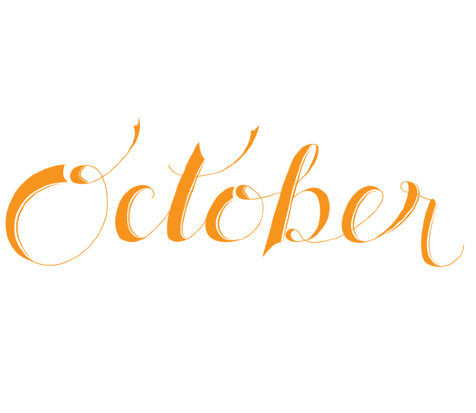 the months  hand-lettering